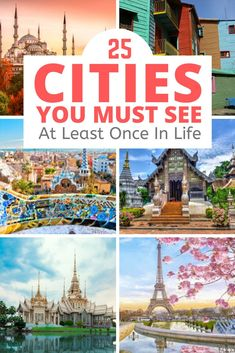 25 Cities You Need To See At Least Once In Life In need of some travel inspiration? Here are beautiful cities to add to your bucket list. Don't miss these amazing travel destinations. This list has only the best destinations to see at least once in life Travel Advice, Travel Quotes, Travel Tips, Travel Deals, Travel Packing, Travel Backpack, Travel Flights, Travel Vlog, Travel Hacks