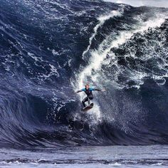 Catching Huge Air Off A Ferocious Wave