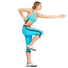 15-Minute Flab-Fighting Cardio - Dumbbells kick up the calorie burn of this 15-minute flab-fighting cardio routine.