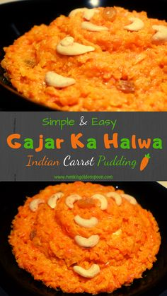 Lots of people would like to find out about indian cooking cups. Well this is what our website is all about. So click through and look at how we can give you that. Indian Desserts, Indian Dishes, Indian Food Recipes, Ethnic Recipes, Carrot Recipes, Vegan Recipes, Carrot Pudding, Gajar Ka Halwa, Desi Ghee