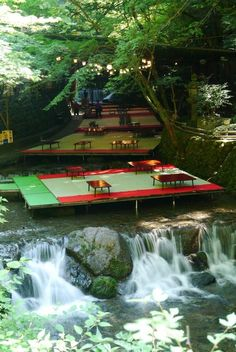Summer in Kyoto I& had lunch here. The idea is that the running stream keeps you cool. It is wonderful. Summer in Kyoto Ive had lunch here. The idea is that the running stream keeps you cool. It is wonderful. Beautiful World, Beautiful Places, Beautiful Scenery, Places To Travel, Places To Visit, Japan Travel Guide, Japanese Landscape, Photos Voyages, Japanese Culture