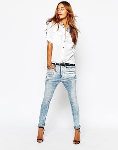9d4c9a53c6d Image 4 of G-Star Davin 3D Low Rise Boyfriend Jeans Jeans With Heels