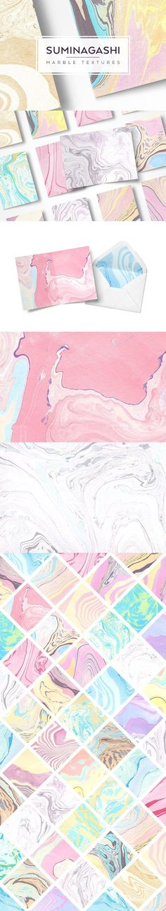 Suminagashi Paper Textures. Best Textures