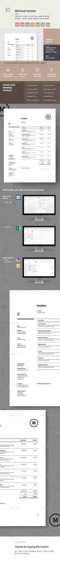 Elegant Business Invoice Template