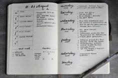 Bullet journal, mon organisation sur mesure Ma page de Daily Logs, inspirée par…