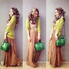 Gambar Desain Baju Muslim Remaja Trend 2015