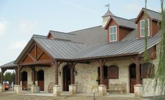 Gorgeous Texas Barn Equipped with Classic Equine Equipment Horse Stalls and Partitions.