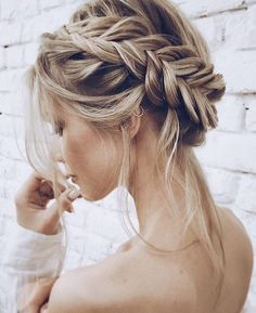 blonde crown braids for fair skin