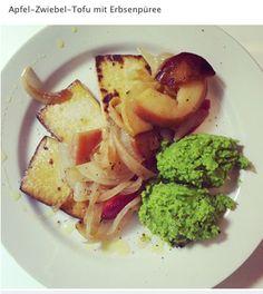 apple, onion, tofu, peas