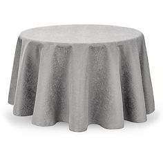 "Waterford Moonscape Tablecloth, 90"" Round (€130) ❤ liked on Polyvore featuring home, kitchen & dining, table linens, silver, round tablecloths, silver tablecloth, round table linens, round table cloth and circular tablecloth"
