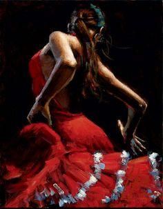 Dancer in Red - Fabian Perez