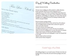 Day of Wedding Coordinator package! www.idownm.com