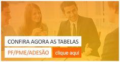 Tabelas PF PME ADESÃO planos de saúde. www.inovaplanos.com.br