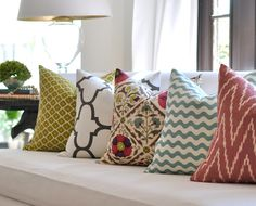 Throw pillows are great to add colour to your kids' room