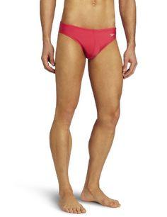 Speedo Men's Fashion Xtra Life Lycra Solid Solar 1 Brief Swimsuit