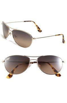 104863c8396 Maui Jim Baby Beach 56mm PolarizedPlus2® Aviator Sunglasses