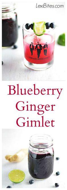 Blueberry Ginger Gimlet - LexiBites.com