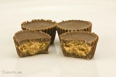 Homemade Peanut Butter Cups--There's something about peanut butter and chocolate I heart. It's like eating the real Reese's.