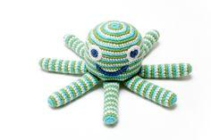Pebble Crotchet Octopus Rattle