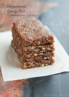 Gingerbread Energy Bars {Vegan, Raw, Gluten Free} - Nutritious Eats