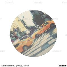 Tilted Taxis NYC Beverage Coasters
