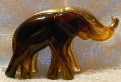 Vintage Two Tone Elephant Brooch by Liz by ViksVintageJewelry, $21.99