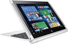 "HP Pavilion x2 Detachable Premium 2-in-1 Laptop Tablet,10.1"" HD IPS Touchscreen Intel Quad-Core Atom x5-Z8350, 32GB eMMC SSD, 2GB RAM, 802.11ac, Wifi, Bluetooth, Windows 10-Silver by HP"