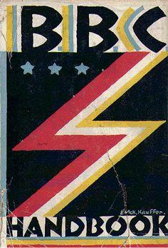 BBC Handbook, 1928. Cover by E. McKnight Kauffer.
