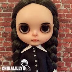 OOAK custom blythe doll Wednesday Addams by by indyandtheninja
