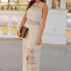 Shower Of Flowers Maxi, Ivory