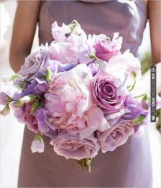 purple wedding bouquet | VIA rel='nofo...