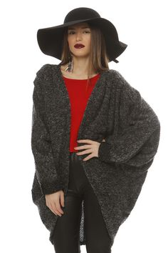 Made Of Grace Oversize Knit Cardigan - ΡΟΥΧΑ -> Jackets & kimono | Made of Grace