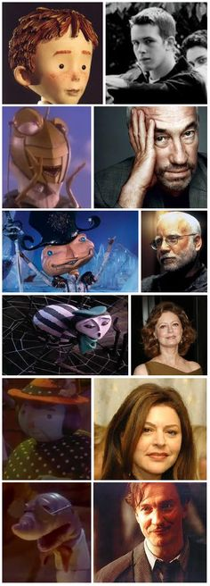 'James and the Giant Peach' characters & voice actors