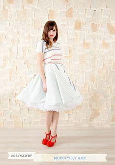 Va Va Voluminous Petticoat in White   Mod Retro Vintage Underwear   ModCloth.com