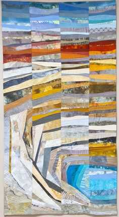 Like Arizona Gold, art quilt by Janet Windsor