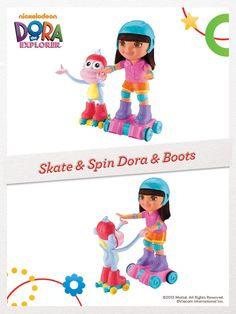 Watch as Dora & Boots magically skate side-by-side, spin, or skate in a conga line! #FisherPrice #Toys #Playtime