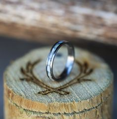 Elk ivory stacking wedding band handcrafted by Staghead Designs.