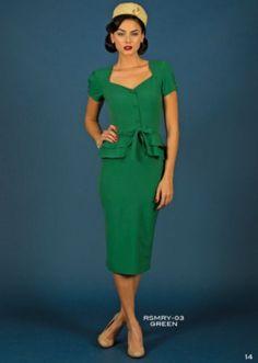Stop Staring Cheesecake Verde Ou Vermelho Alecrim Anos 40 Repro Traje Vestido Lápis XS-3X