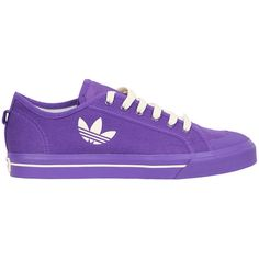 Adidas by Raf Simons Raf Spirit canvas sneakers (€255) ❤ liked on Polyvore featuring shoes, sneakers, purple, lace up sneakers, purple sneakers, purple shoes, adidas and cotton shoes
