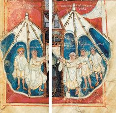 Tende dal Pentateuco di Tours, delle quali viene probabilmente mostrato l'interno / Tents from the Pentateuch of Tours, probably showing the inside