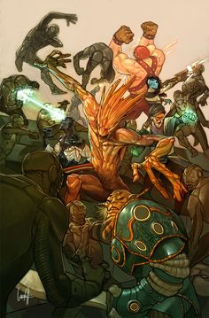 ArtStation - Guardians of Infinity #2 (variant), Gary Choo