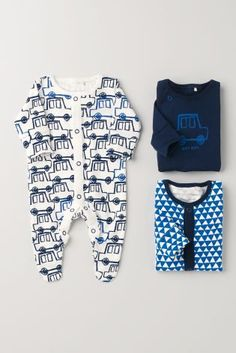 Buy Three Pack Ecru Cars Sleepsuits 6-9 mo Next: United States of America