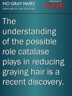 Catalase effects - a recent discovery. The understanding of the possible role catalase plays in reducing graying hair is a recent discovery. #catalase Catalase XP H2O2 Blocker.