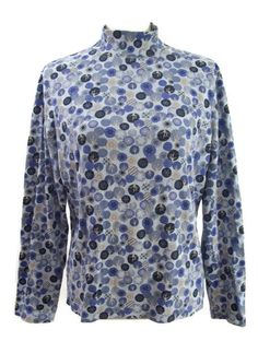 2666127029c Croft  amp  Barrow Womens Christmas Top SIZE LARGE Blue White Snowflakes  Ornaments Cotton  CroftBarrow