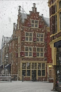 Delft in snow, The Netherlands