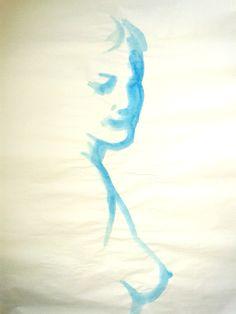 Exploit artistique 5 - acrylique sur papier boucher, pose de 3/5 minutes.