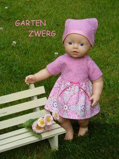 """Puppenkleidung - """"GartenZwerg"""" 3tlg Set Gr. 30-35 cm - ein Designerstück von handgeschick bei DaWanda"""