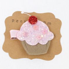 Hey, I found this really awesome Etsy listing at https://www.etsy.com/listing/199555603/cupcake-hair-clip-glitter-hair-clip