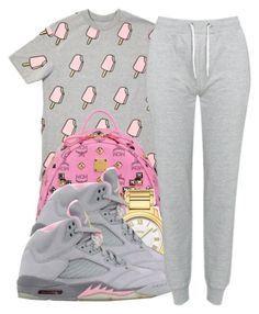 """""""June,10,2k14"""" by khiidamy4502 ❤ liked on Polyvore featuring MCM, Fendi, NIKE and Brave Soul"""