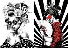 Ilustrações escuras e fotorealistas feitas com caneta esferográfica
